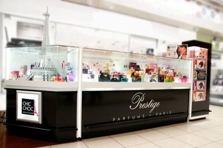 Amenajare Insula parfumuri Carrefour Feeria
