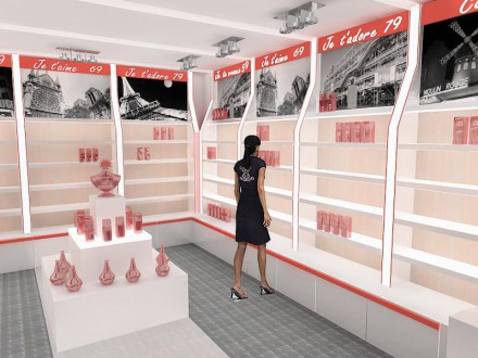 Magazin parfumuri Auchan – simulari 3D