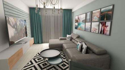 Amenajare interioara apartament 2 camere Carol City Park