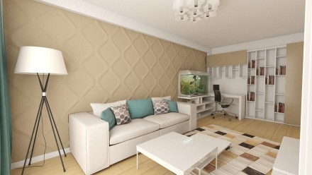 Design interior apartament 2 camere Carol City Park.