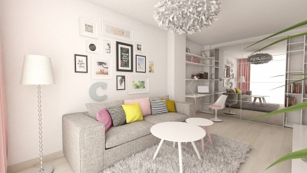 Apartament 2 camere Carol City Park – design interior