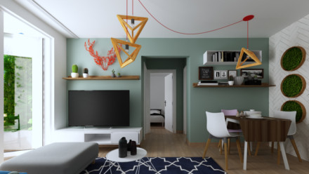 Design interior apartament Unirii airbnb