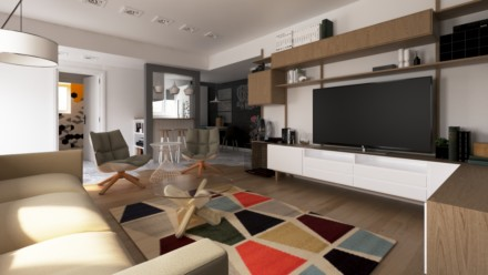 Amenajare interioara apartament 2 camere Bucuresti