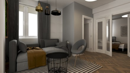 Design interior apartament airbnb Bucuresti