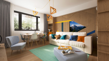 Design interior apartament Greenfield