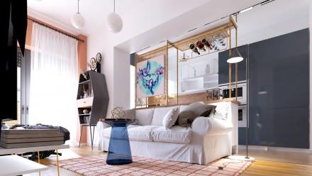 Design interior apartament 2 camere Arcadia Residence Domenii Bucuresti